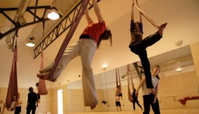 Aerialists in the Rehearsal Room