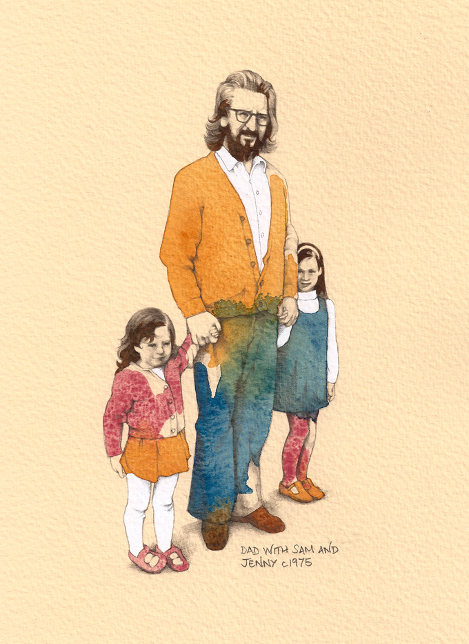 'Dad with Sam and Jenny' by Jenny Proudfoot