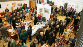 A Mid-Century Market event with an exciting array of stalls and a busy crowd