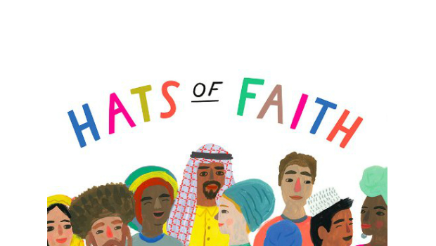 An illustration of people from different cultures and faiths chatting.
