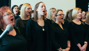 Female choir singing