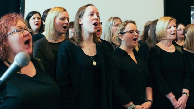 Female choir singing