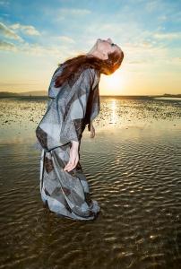 Musician Diana De Carrabus aka Candythief on the beach