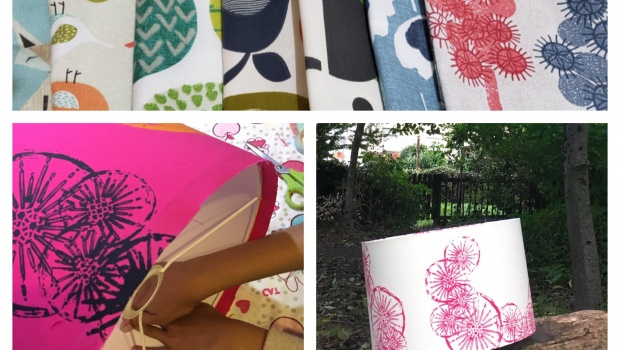 Collage of lampshades