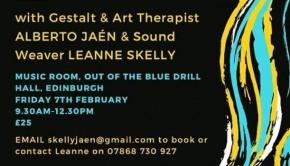 Gestalt and Art Therapist Alberto Jaen and Sound Weaver Leanne Skelly