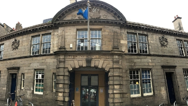Drill Hall's Dalmeny Street frontage and main entrance