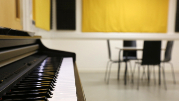 Piano in Music Room